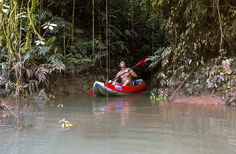 Kayaking on the Amazon Rainforest
