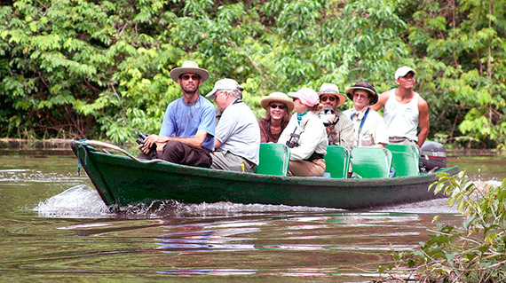 cruises down the amazon river