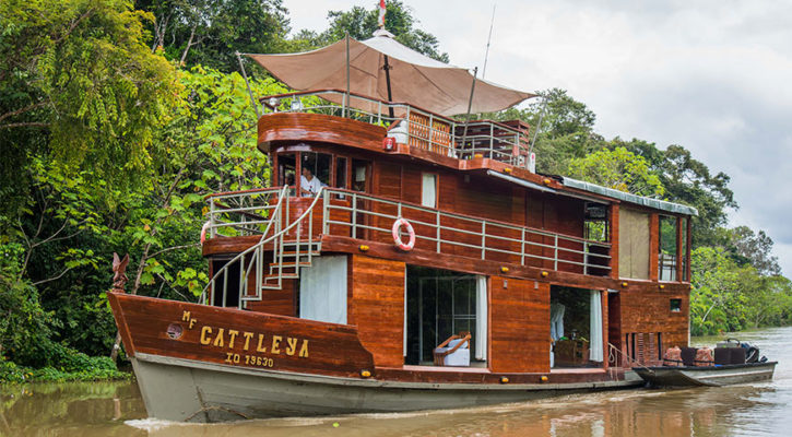 The most intimate ships for exploring the Amazon river