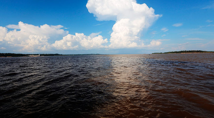 Why does the Amazon River flow backwards in some areas?