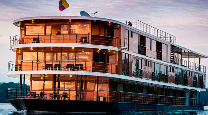 The most luxurious boat on the Amazon river