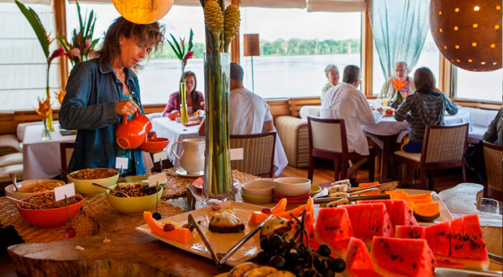 What do you eat on an Amazon cruise?