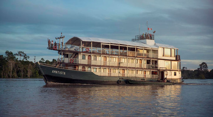 A new riverboat for an Amazon cruise Peru: the Amatista