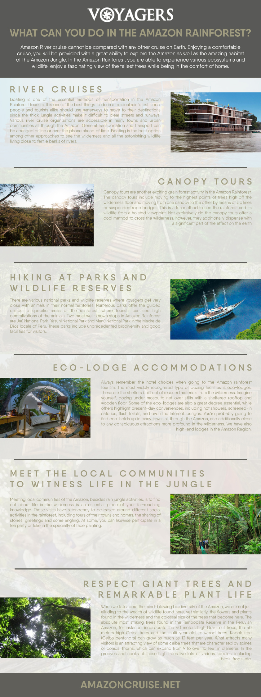what can you do in the amazon rainforest