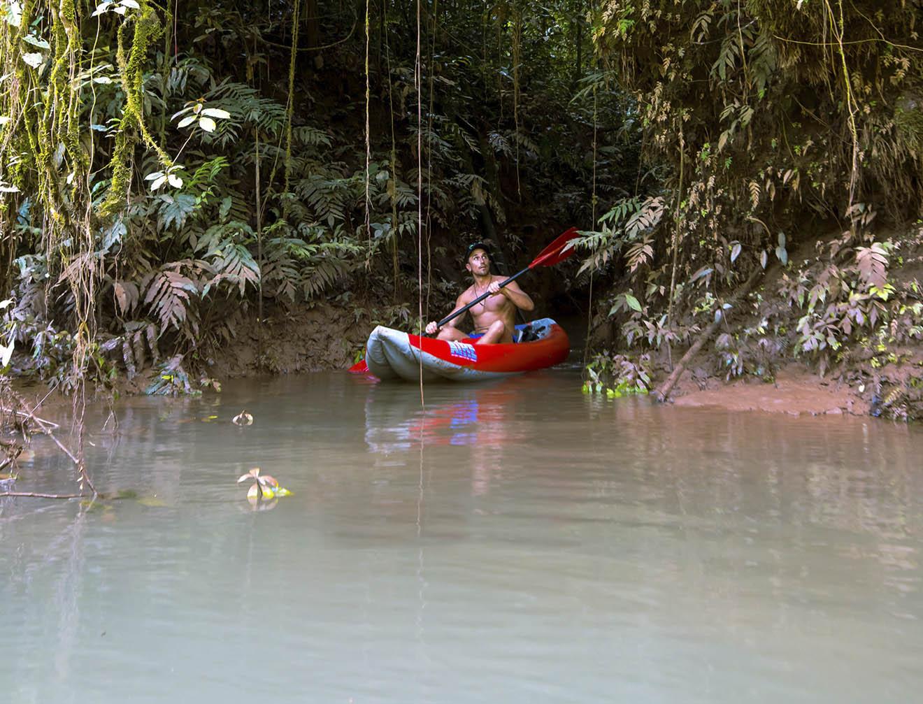 Kayaking on the Amazon River