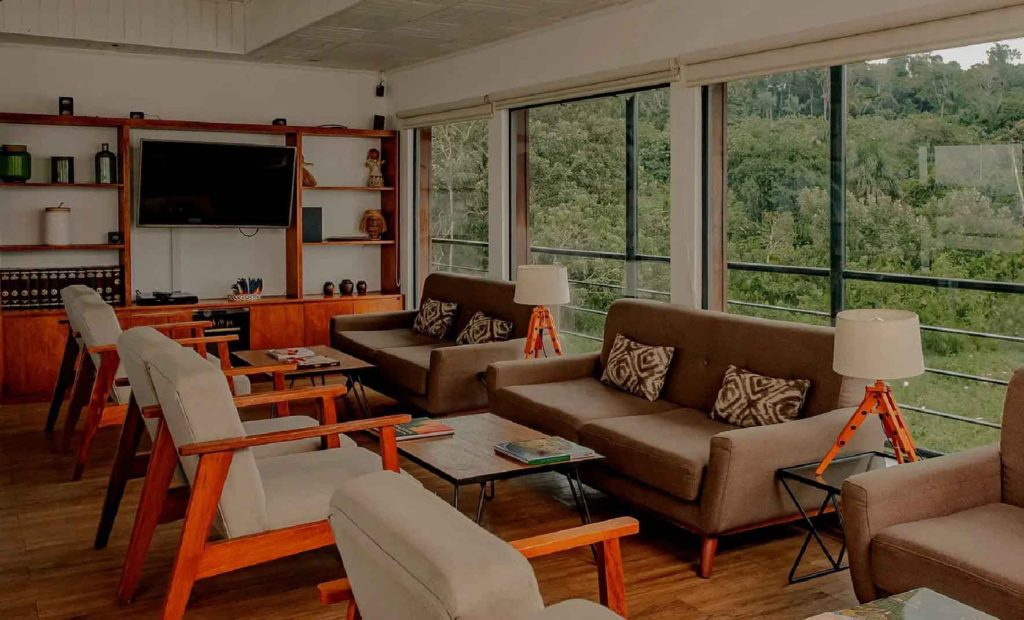 Social Living area   Amazon Cruise